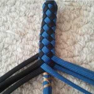 「教你编绳」伞绳做方格子手链的过程
