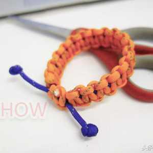 用伞绳编可调节长短的手链,不买手链自己做才有意义