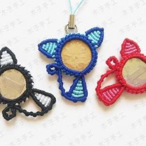 硬币小猫手机挂饰编织图文教程