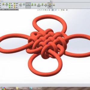 用SolidWorks画一个火红的中国结
