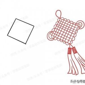 学生手抄报素材——中国结简笔画教程