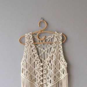 macrame编织 衣服不用买自己动手编织超时尚
