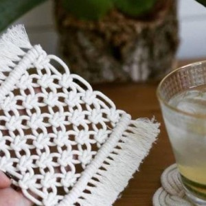 Macrame编绳杯垫,简洁素雅,美观实用,能让你静下心来的手工