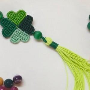 手工编绳漂亮的四叶草挂件,方法简单又容易学习(图解2-1)