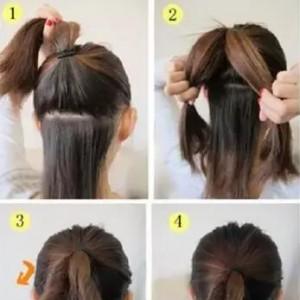 教你扎头发编发 马尾辫的各种扎法图片