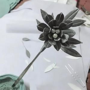 饰品|用纸片和丝光线做一个前所未见的缠花发簪
