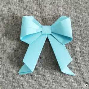 折纸大全简单又漂亮纸蝴蝶结图解