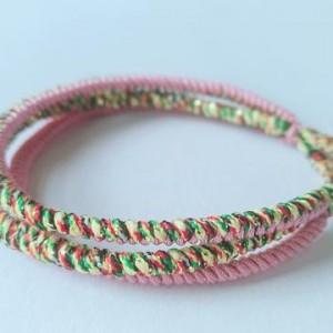 手工红绳手链编织图解,本命年红绳手链教程