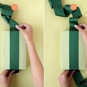 礼品包装蝴蝶结图解,实用礼品包装打法