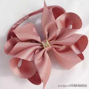 蝴蝶结发饰的制作方法,十种儿童蝴蝶结发夹做法图片