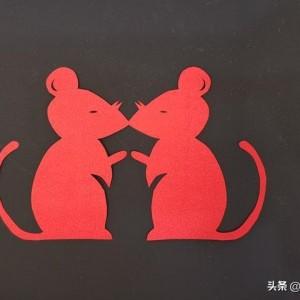 剪纸小老鼠窗花,儿童简单剪纸剪窗花