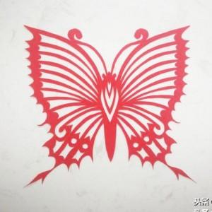 蝴蝶剪纸剪纸教程,简易窗花剪纸步骤图片