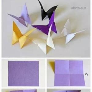 儿童折纸蝴蝶的折法,十种简单折纸蝴蝶折法大全