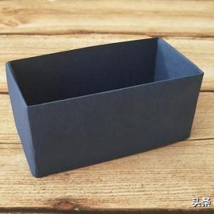折纸收纳盒教程图解,教你怎么用纸折收纳盒