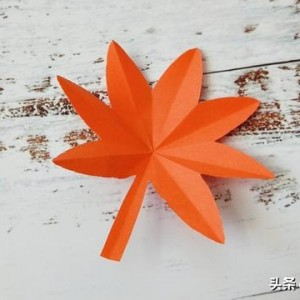 秋天的枫叶剪纸教程,儿童手工枫叶制作步骤图解