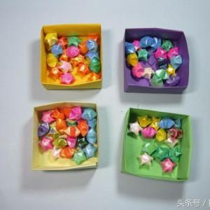 正方形收纳盒的折法步骤图解,手工折叠纸盒做法教程