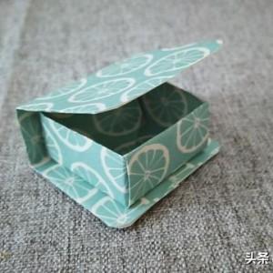 迷你书本收纳盒折纸教程,简单又漂亮书本盒子制作方法