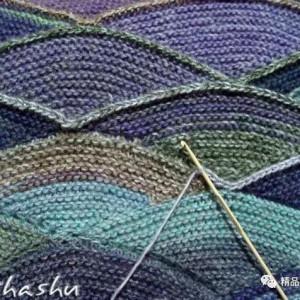 波浪花纹编织法教程,简单棒针波浪花纹图解