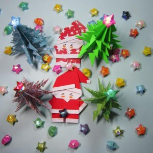 圣诞树的折法步骤图解,圣诞节手工折纸