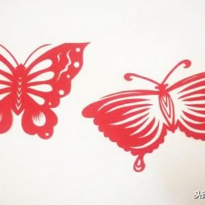 最简单的蝴蝶剪纸教程,蝴蝶画法