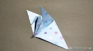 千纸鹤折纸教程,还有四叶草折纸图解