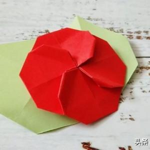 折纸山茶花详细步骤图解,新手简单做法