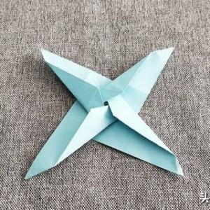 折纸笔尖风车图解教程,简单风车折纸步骤