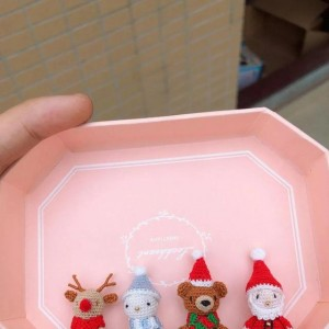 圣诞玩偶钩针图解,可以做吊坠的圣诞钩法