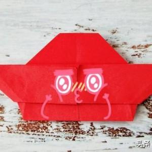 火锅折纸教程图解,简单好看立体手工折纸步骤