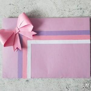 蝴蝶结贺卡手工制作,简单又漂亮的贺卡做法教程
