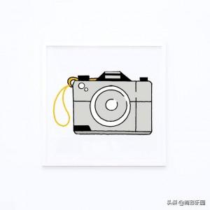 照相机简笔画手绘画法图片 - 简单可爱彩色版的相机教程
