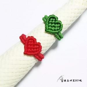 爱心戒指编织教程图解,手工编织戒指步骤图