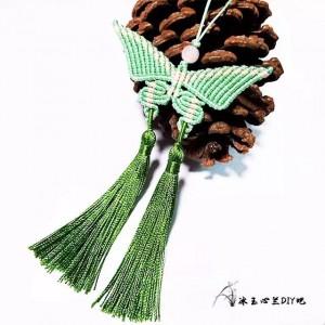 蝴蝶挂件编织教程图解,简单好看的蝴蝶编绳教程