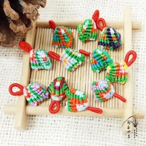 端午五彩小粽子编织教程,粽子小挂件编法