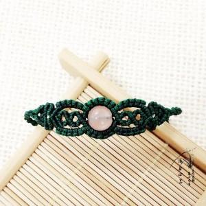 单珠手链的编织绳编法,教你一颗圆珠怎么编手链