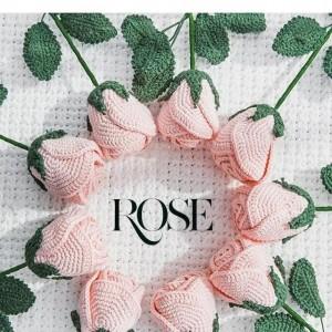 奥斯汀玫瑰花钩织图解,初学者简单钩花朵图解步骤