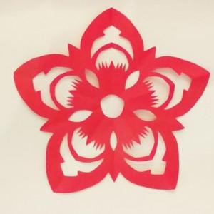 花朵剪纸图片大全,简单又好学的花朵剪纸图案合集