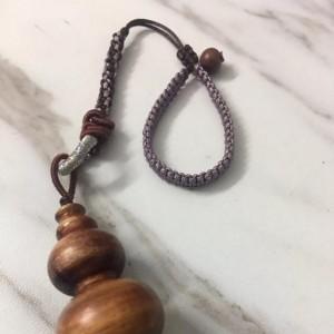 海南黄花梨葫芦手把件编绳教程,手串编织方法