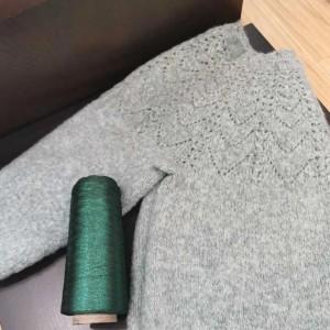 圆肩套头宽松版女士春季套头毛衣编织图解