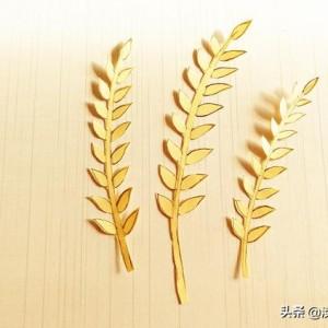 幼儿手工,用一张纸剪一个稻穗,悼念杂交水稻之父袁隆平爷爷