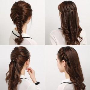 编辫子发型扎法图解,简单易学小女孩扎头发方法
