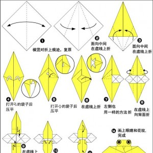 折纸蜜蜂制作步骤图解,简单好看儿童手工教程