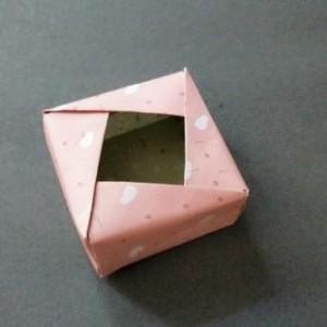 纸质收纳盒制作方法,教你制作简单手工折叠收纳盒