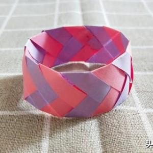 儿童手工制作大全,简单折纸手环小刺猬双爱心和太阳制作方法