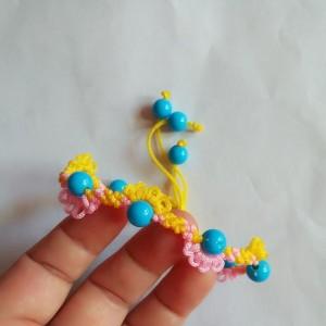 简单好看旋花手链教程图解,教你如何编小花手链