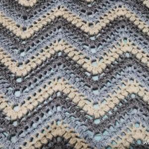 波浪花的编织方法,成人款女式背心钩织教程
