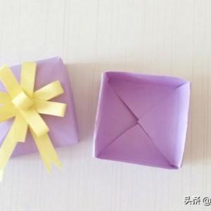 简单手工制作用卡纸做礼物盒详细教程