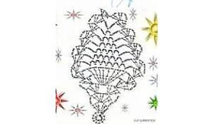 菠萝花的钩针详细图解,可做杯垫围巾连衣裙
