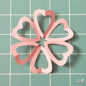 爱心窗花剪纸教程图解,简单心形剪法步骤图