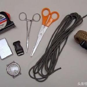 伞绳手表表链编法图解,DIY求生工具教程